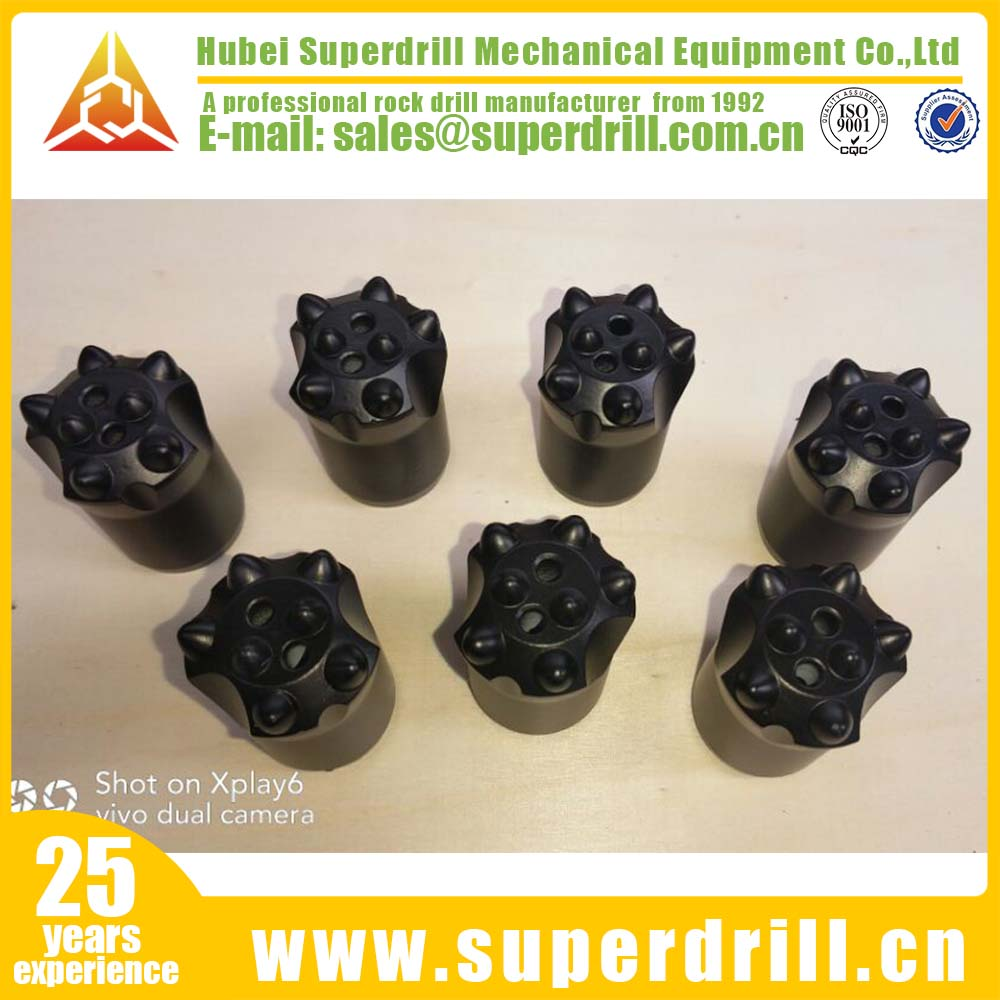 34mm 7 buttons 7degree tapered rock drilling tools button drill bit
